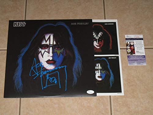 (Ace Frehley signed KISS 1978 Solo Album 2014 Reissue LP Record Vinyl JSA COA)