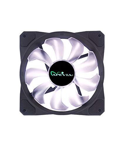 APEVIA CO12L-WH Cosmos 120mm White LED Ultra Silent Case Fan w/ 16 LEDs & Anti-Vibration Rubber Pads