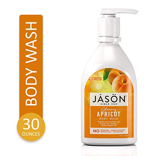 Jason Natural Body Wash and Shower Gel, Glowing Apricot.  30 oz