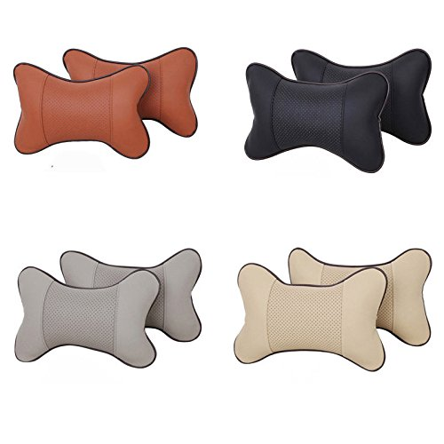 BB2 PCS Travel Car Auto Seat Head Neck Rest Cushion Pad HeadRest Pillow Bone Shape