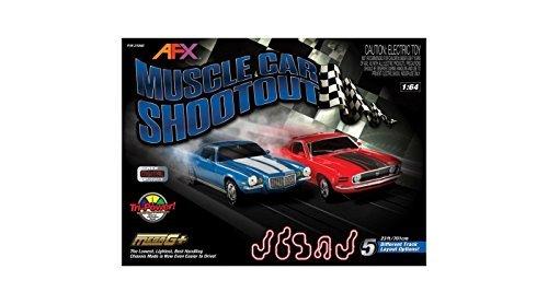 AFX Muscle Car Shootout Set w/Digital Lap Counter, (Afx Slot Car Set)