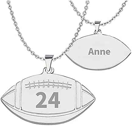 Saalort Customized Baseball Basketball Soccer Necklace Custom with Any Name Number