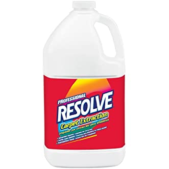 Resolve Professional Strength Carpet Stain Extraction Cleaner Concentrate, 128 Ounce (Pack of 4)