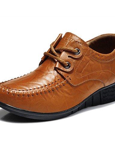 Cn36 Njx Plat Confort Bureau Uk4 Cuir Décontracté Eu36 Travail Chaussures Talon 2016 Khaki us6 Kaki Mariage amp; Marron Femme Richelieu rpqrwHUxP7