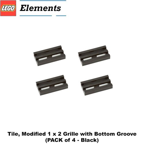 Lego Parts: Tile, Modified 1 x 2 Grille with Bottom Groov...