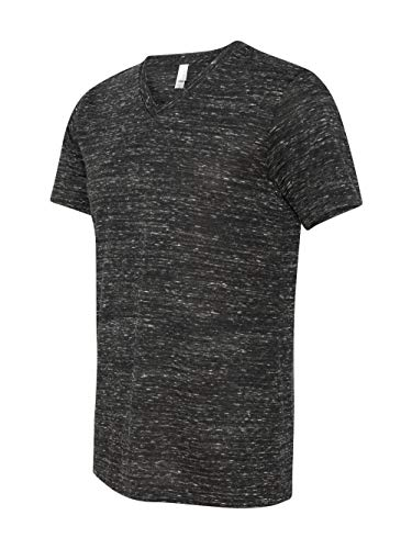 Bella + Canvas Unisex Jersey Short-Sleeve V-Neck T-Shirt, XL, BLACK ()