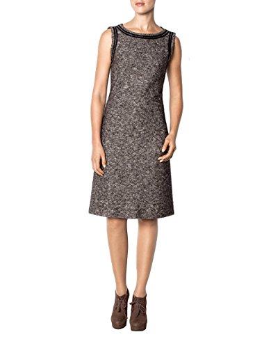 Damen Dress Größe Kleid 36 Hechter Farbe Grau Unifarben Acryl Daniel Poly ZOwSx11q
