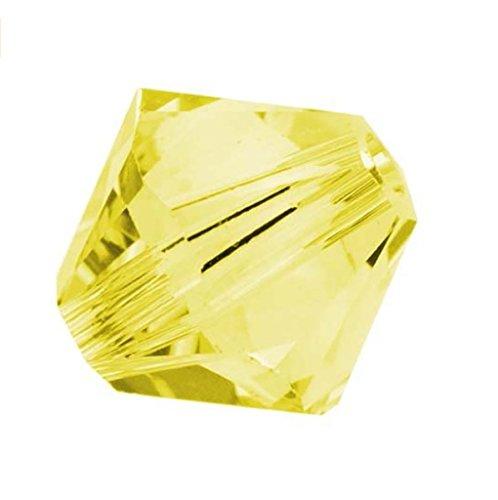 25pcs x Genuine Preciosa Bicone Crystal Beads 6mm Citrine Alternatives For Swarovski #5301/5328 (6 Mm Bicone Rose)
