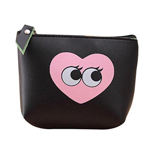 Coin Purse Wallet Clearance Seaintheson Women Girls Cute Fashion Bag Change Pouch Key Holder Coin Pouch Handbag Mini Coin Storage Small Walle  Black