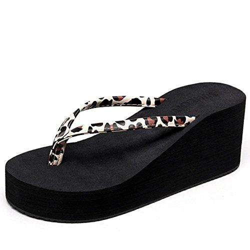inférieures mer Chaussures Chaussons couleurs de rabat en talons avec des de Femmes e pantoufles et glissades d'été à de bord plage antidérapantes Flip vêtements à fraîches hauts 2 la chaussures A mode p1znFpr