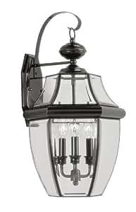 Livex Lighting 2351-04 Traditional 3-Light Black Outdoor Wall Lantern