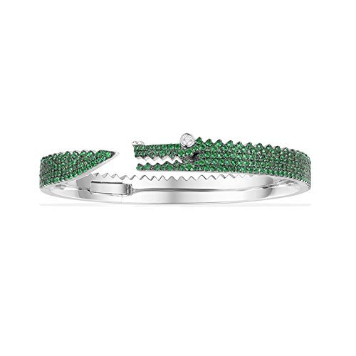 Green Crocodile Bracelet S925 Pure Silver Bracelet Exaggerated Gift Bracelets