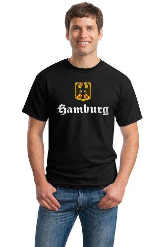 HAMBURG, GERMANY Adult Unisex Vintage Look T-shirt / German City Hamburg