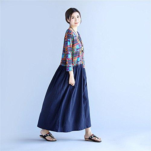 del cintura de vestidos de YAN nuevos Vestidos vestidos 2018 las diario de mujeres cuello uso del verano gFxHFn8
