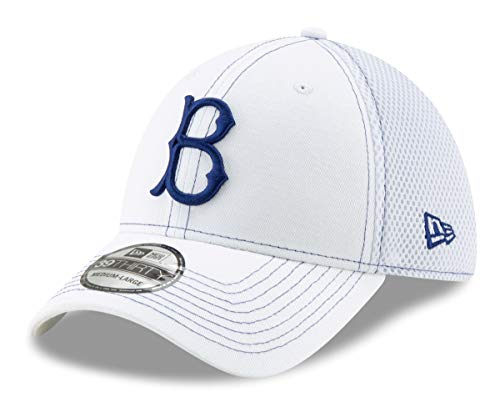 56ec6a3b866bd New Era Brooklyn Dodgers 39THIRTY Cooperstown White Team Neo Flex Fit Hat