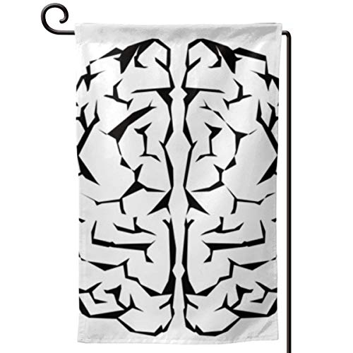 Hucuery Seasonal Garden Flag, The Strongest Brain Vertical Double-Sided 12.5 X 18 in Courtyard Decoration Durable, Lovely -