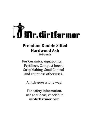 Premium Double Sifted Clean Hardwood Ash (Natural Fertilizer, Aquaponics, Change Soil Ph Levels, Slug Killer, Boost Organic Tomato Plants and Compost, Melt Ice, etc.)