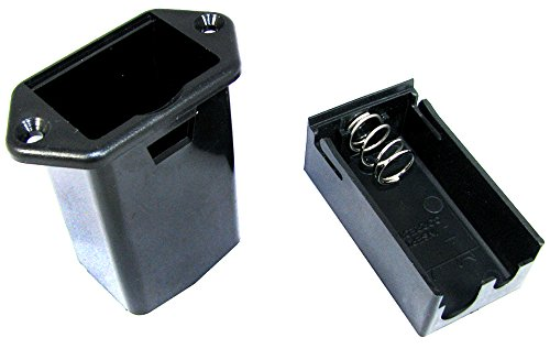 2pc. 9-volt battery Tray - Externally Accessible Panel Mount ()