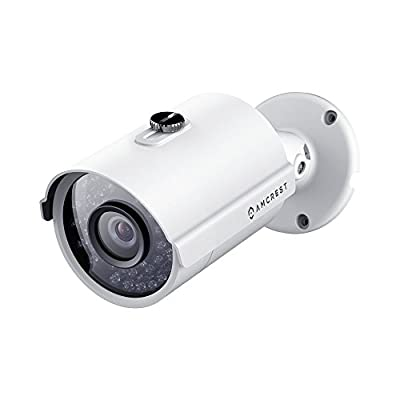 Amcrest ProHD Outdoor 3 Megapixel POE Bullet IP Security Camera - IP67 Weatherproof, 3MP (2048 TVL), IP3M-954E (White) by Amcrest