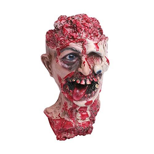 Punisher Decor - Horror Vampire Adult Zombie Head Costume Screaming Corpse Ornament Decoration - Party Decorations Party Decorations Witch Decor Mask Horror Corpse Cosplay Bride Blood -