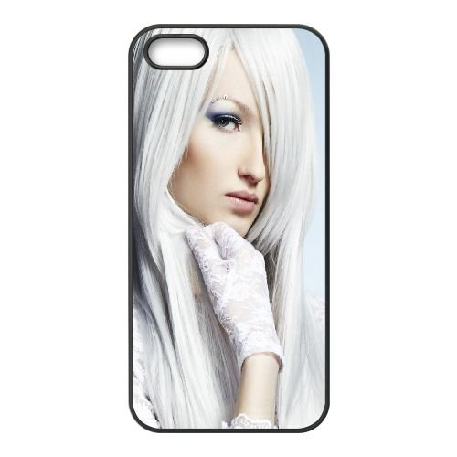 Blonde Eyes Hair 85268 coque iPhone 4 4S cellulaire cas coque de téléphone cas téléphone cellulaire noir couvercle EEEXLKNBC23651
