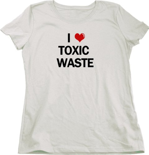 I Heart Toxic Waste | Real Genius 80s Homage Ladies Cut T-shirt Movie Fan Tribute Tee