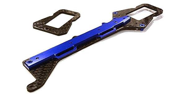 Integy RC Model Hop-ups OBM-001BLACK Composite Carbon Fiber Alloy Rear Wing Set for HPI 1//5 Baja 5B /& 5B2.0
