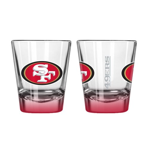 (Boelter Brands NFL San Francisco 49ers Elite Shot Glass, 2-Ounce, 2-Pack)