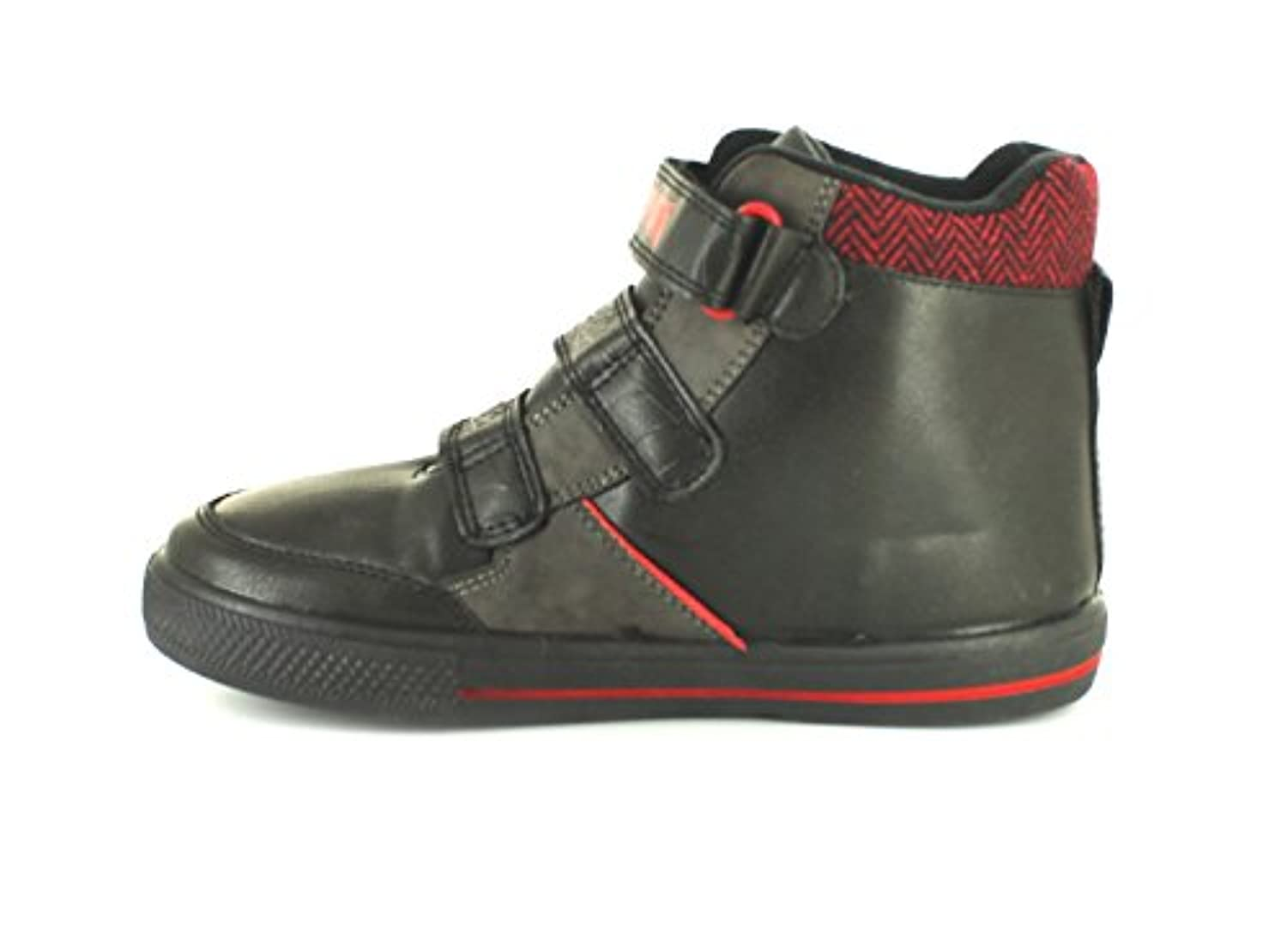 New Boys/Childrens Black/Red Spiderman Touch Fastening Boots - Black/Red - UK SIZE 1