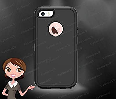 iPhone 5 Case, Shellvcase® ,Heavy Duty Triple-layer Silicone + PC Case for iPhone 5 [Scratch Resistant][Built in Screen Protector][with Holster &Belt Clip][Shock-Absorbing] from Shellvcase