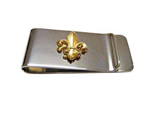 Gold Toned Fleur de Lys Money Clip