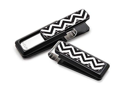 Clips Black M Chevron Stripes Team White amp; Money Clip qfpIpFwX