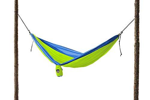 Grand Trunk Single Parachute Nylon Hammock Blue/Lime