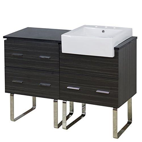 """Jade Bath JB-17372 48"""" W x 20"""" D Plywood-Melamine Vanity Set with 8"""" o.c. CUPC Faucet, Dawn Grey 85%OFF"""