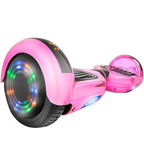 6.5' UL2272 Certified Smart Self Balancing Hoverboard Personal Adult & Kids Transporter with LED Light (Pink)