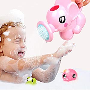 ADESHOP 2019 Toys for Baby, Cute Baby Bath Animals Toys Shower Kid's Water Tub Bathroom Playing Toy Gifts(Pink, M)