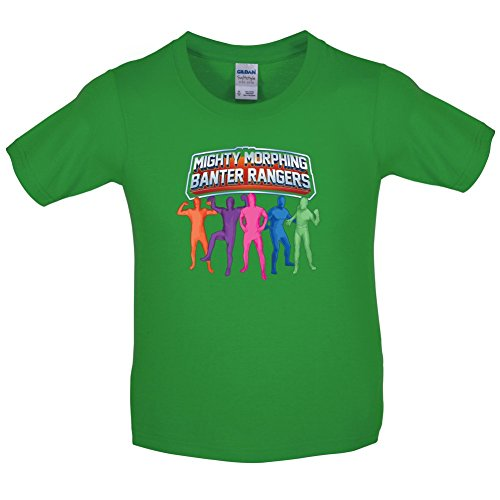 Mighty Morph Rangers - Childrens / Kids T-Shirt - Green - XL(12-14 Years) (Green Ranger Morph Suit)