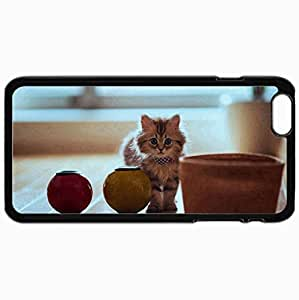 Fashion Unique Design Protective Cellphone Back Cover Case For iPhone 6 Plus Case Cat Black
