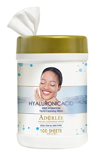 Facial Cleansing Cloths Deep Moisture (ADORLÉE Hyaluronic Acid Deep Hydration Facial Cleansing Wipes)
