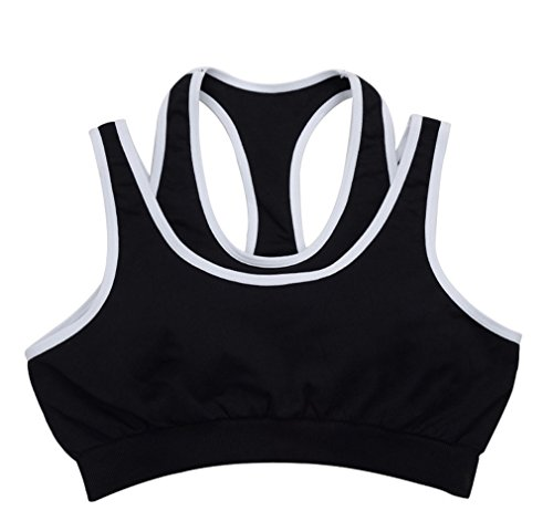 OpetHome Outdoor Sport Underwear Exercise Fitness Bra Clothing for Women Sport Bra Black S