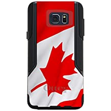 CUSTOM Black OtterBox Commuter Series Case for Samsung Galaxy Note 5 - Red White Canadian Flag Canada