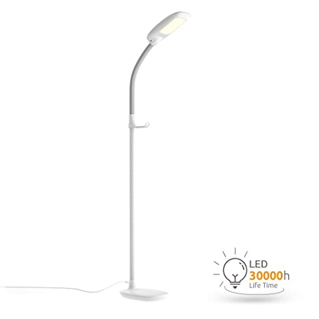 Aglaia LED Reading Floor Lamp, Dimmable Standing Lamp With Gooseneck For  Living Room, Eye