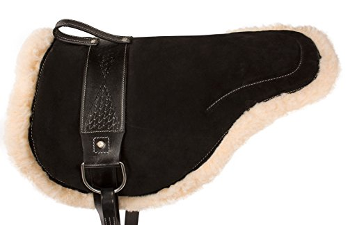 All Purpose Treeless Leather English Bare Back Saddle Black Color