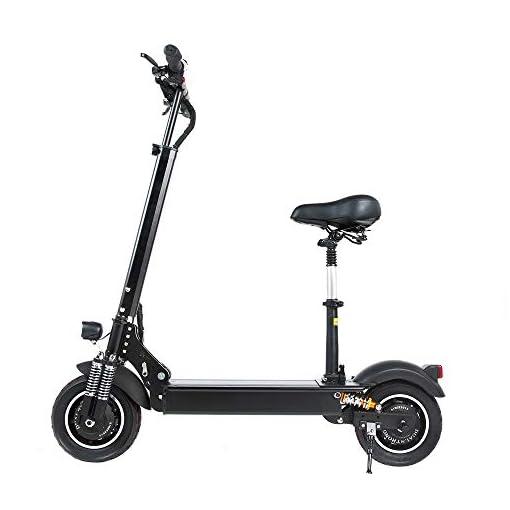 GUNAI Scooters électriques Adulte Pliable avec Siège Trottinettes électrique Pliant de 10 Pouces avec Double Absorption des Chocs,LED Lumière et HD Display