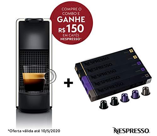 Cafeteira Nespresso Essenza Mini Branca 110V + 50 Cápsulas de café Intenso