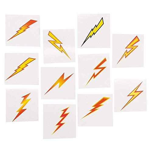 Bolt Lighting (Lightning Bolt Tattoos (72 Pack) Easy to Apply and Remove. Non-toxic.)