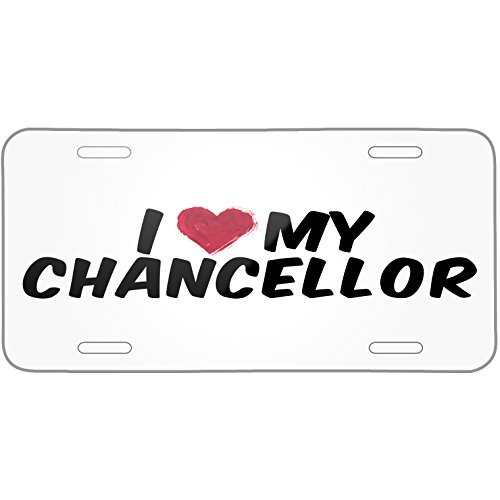 I heart love my Chancellor Metal License Plate 6X12 Inch (Heart Mirrored License Plate)