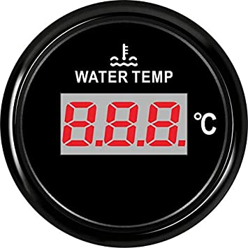 SJ Series DN52mm Digital Water Temp Gauge Water Temp Meter with Temp Sensor PN BN 810-00135