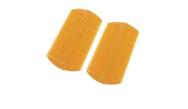 Amazon.com: eDealMax 2 piezas de plástico Amarillo Oscuro Doble lado Recto de dientes del cepillo de Pelo del peine accesorio del Pelo: Health & Personal ...