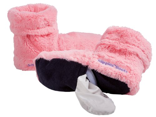 Slippies Boots Deluxe, Pink (Einheitsgröße 37 bis 42) - 100% mikrowellenfähige Wärmepantoffeln, Hausschuhe